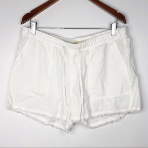 Cloth & Stone White Drawstring Casual Shorts